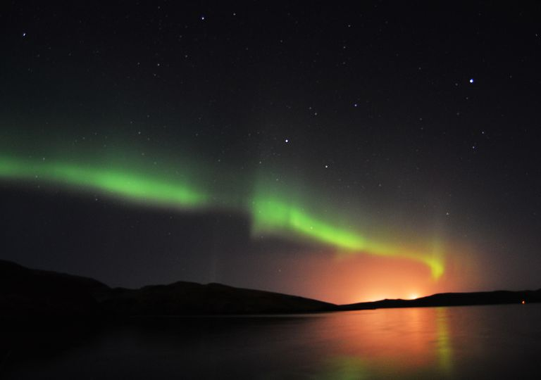 Northern lights in Scotland.