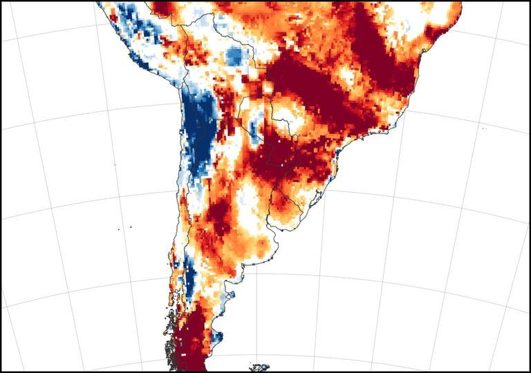 seca, América do Sul, Argentina, Brasil