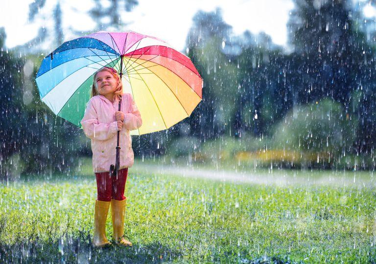 Umbrella in the rain.