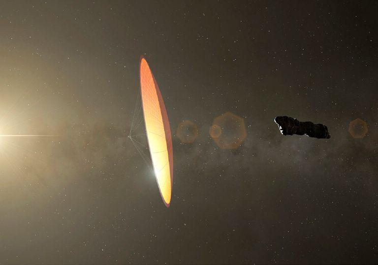 representación artística Oumuamua