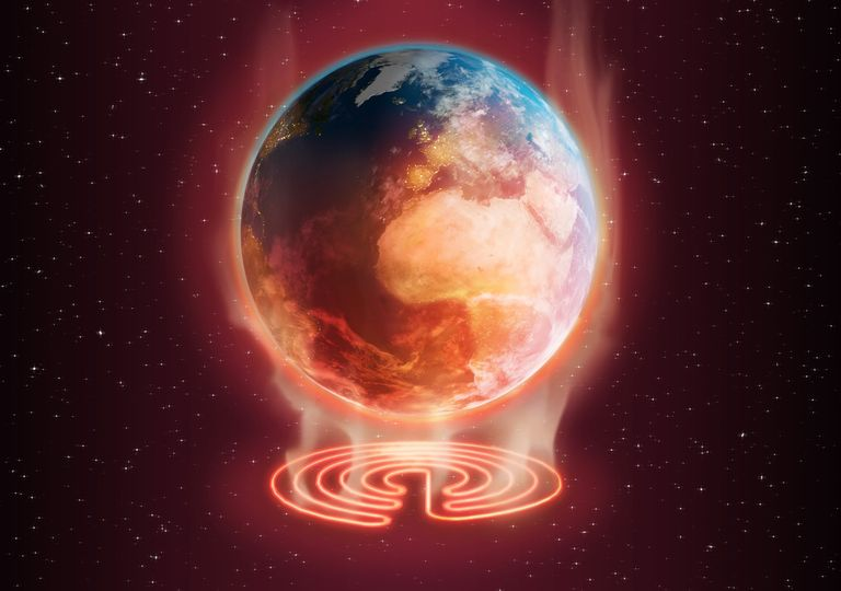 Planet Earth, temperature rise.