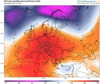 Temperaturas primaverales y casi sin precipitaciones