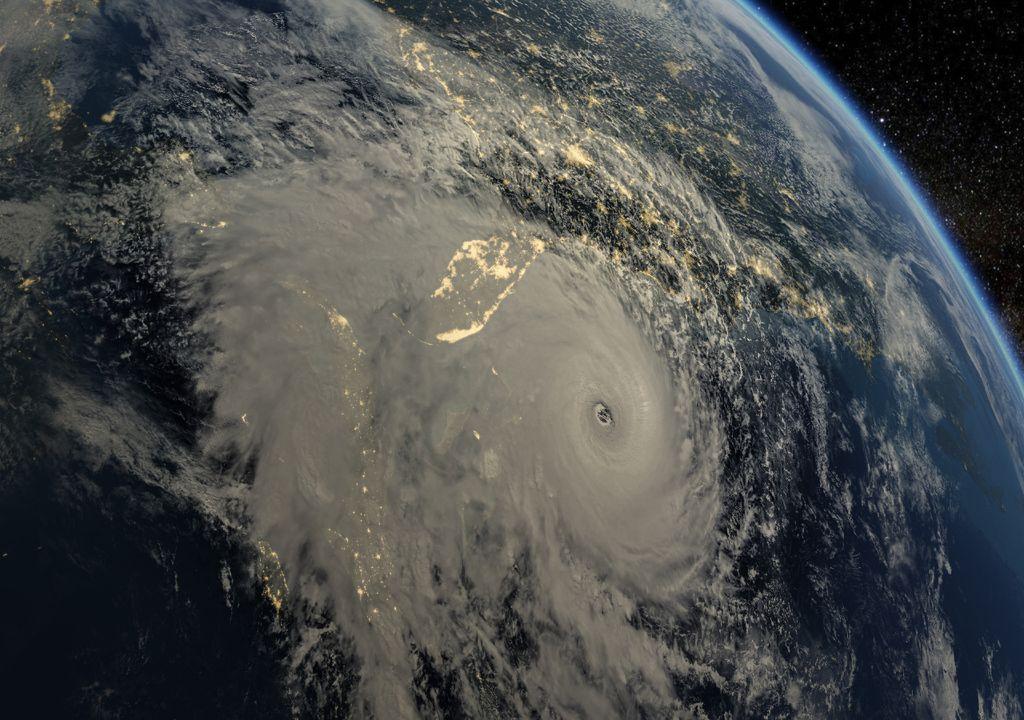 Tempestade vista do espaço.