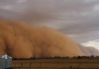 Tempestades de areia e granizo invadem a Austrália