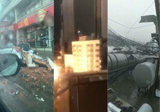 Temporais com ventos acima 100 km/h provocam destruição na Região Sul