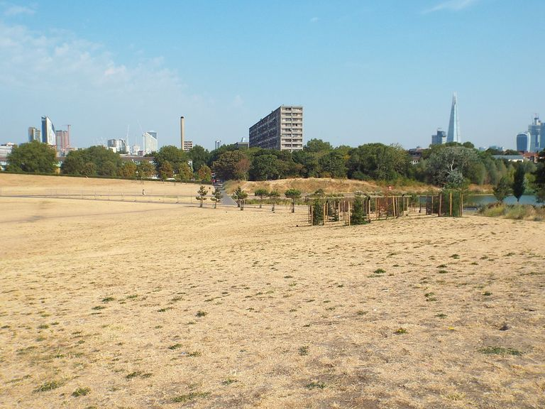 Burgess Park in 2018.