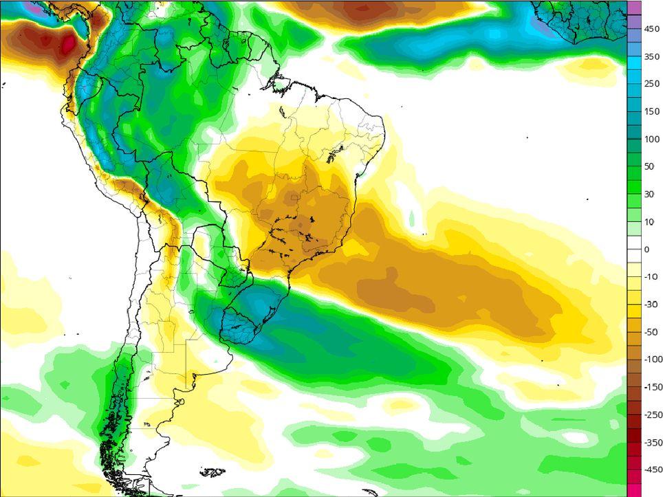 Anomalía de lluvias, Precipitaciones, Octubre
