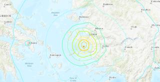Terremoto de magnitud 7 en la costa turca del mar Egeo y tsunami