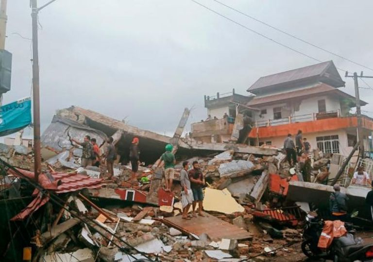 Earthquake in Indonesia.