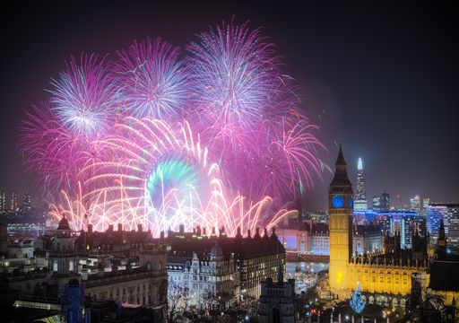 What weather to expect during New Year's fireworks