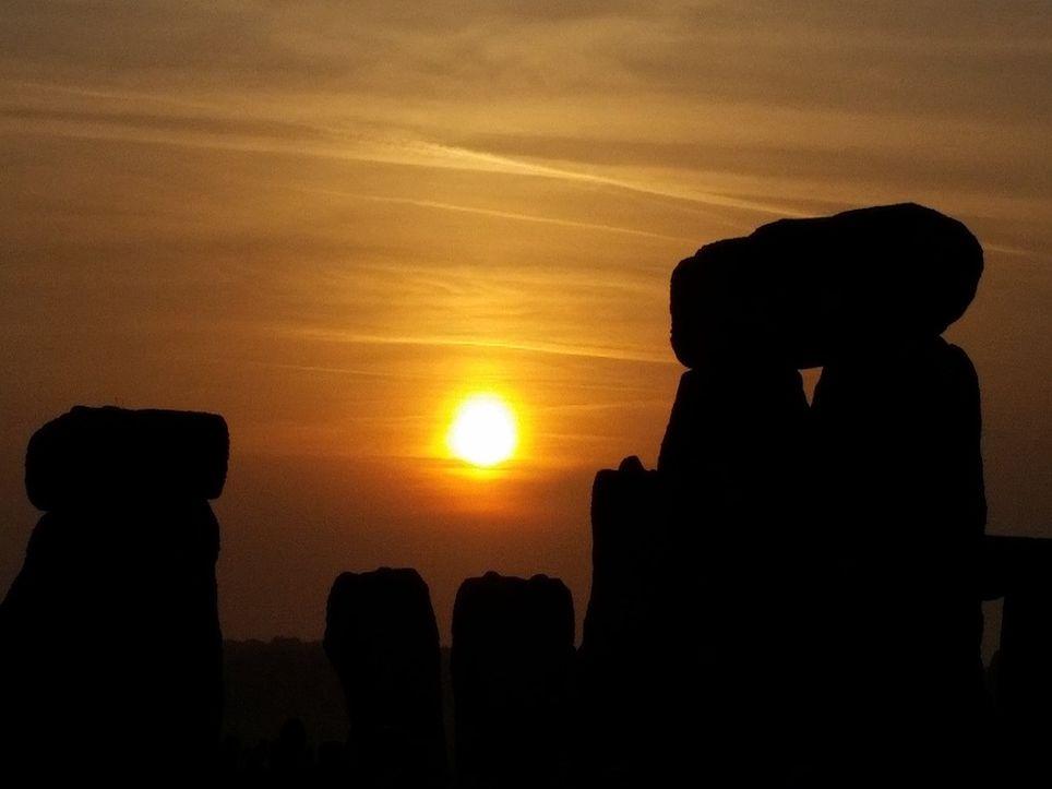 Sunset at Stonehenge.