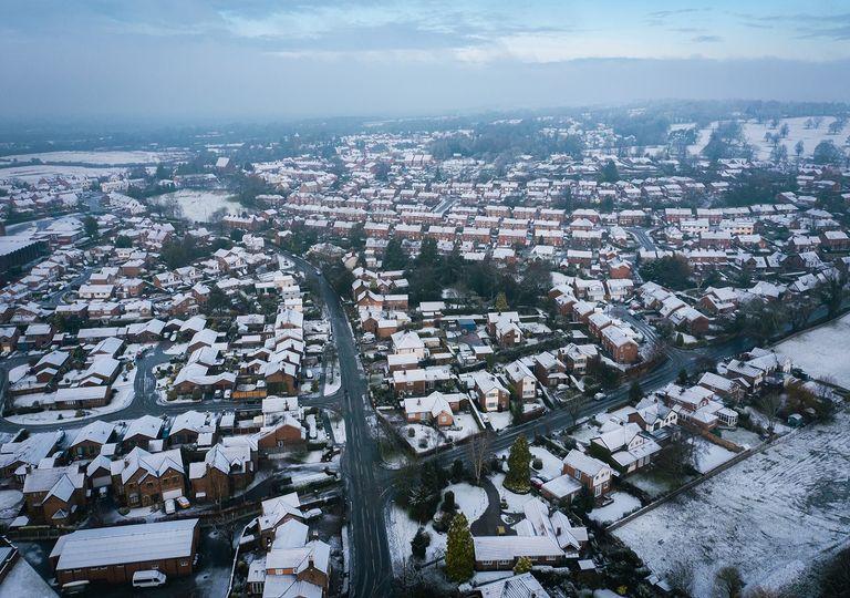 Cheshire, England - UK snow.