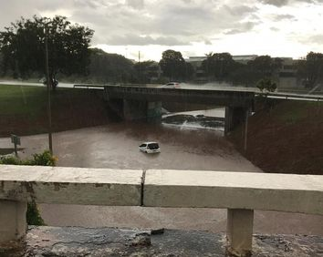 Chuvas intensas castiga Brasília no domingo de Páscoa