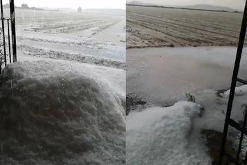 Granizada severa en Badajoz: