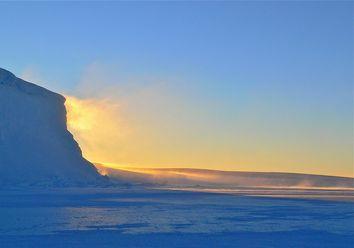 Nas regiões polares da Terra