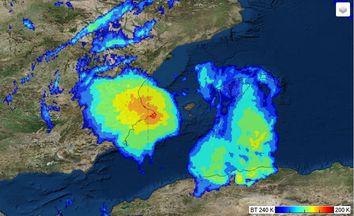Un Sistema Convectivo de Mesoescala afecta zonas del levante español