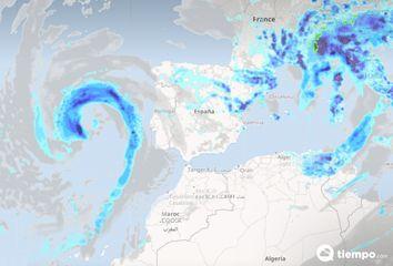 Una DANA, o gota fría, dejará tormentas fuertes a partir del jueves