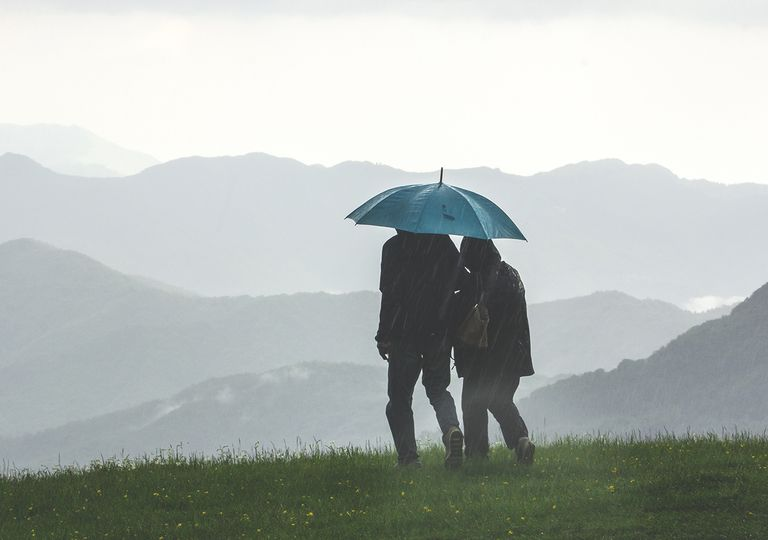 Lluvia en el campo