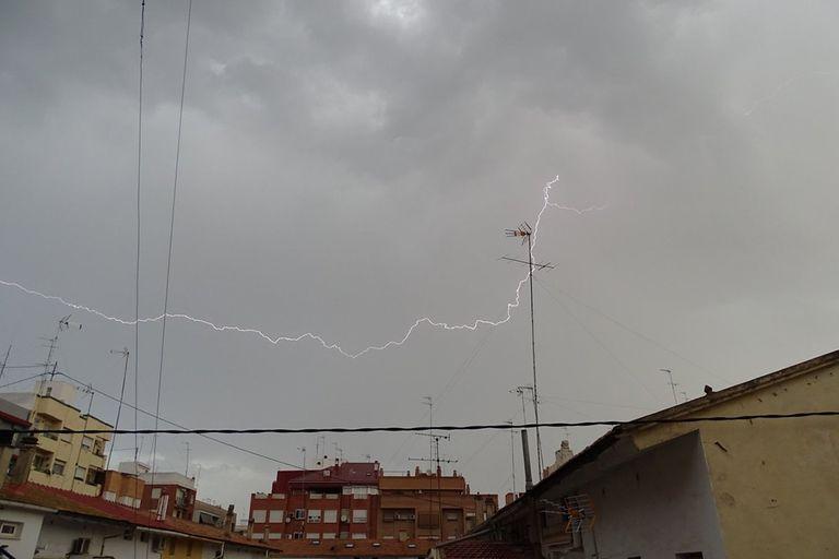 Tormenta en Valencia