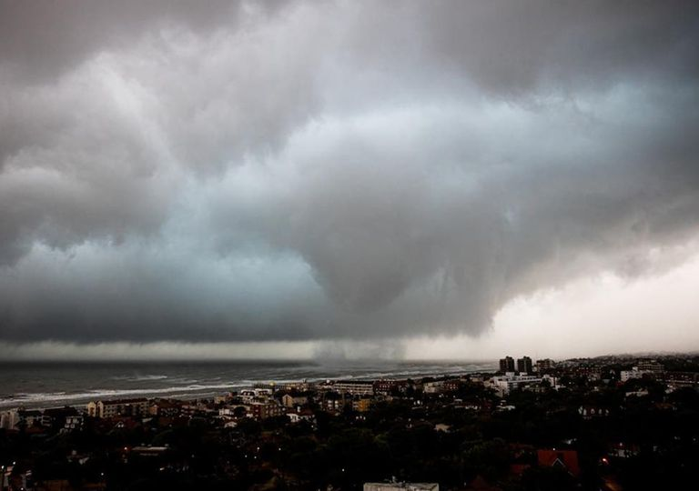 Waterspout over Pinamar. The system also had other vortices that probably hit the ground like tornadoes.,