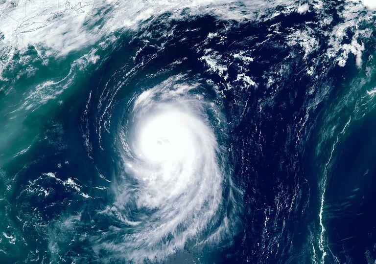 Imagen satelital tifón