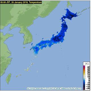 Tokio y Japón se congelan