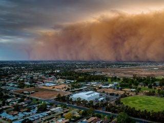 La tormenta de arena en Australia que convirtió el día en noche