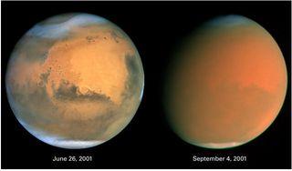 Tormenta de polvo y arena a escala planetaria