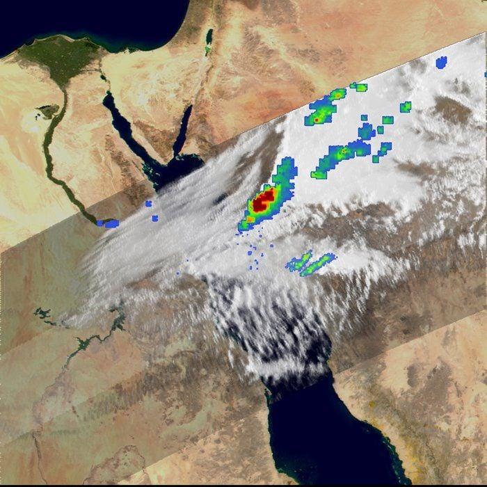 Tormenta Severa En El Mar Rojo: Tragedia Marítima En Un Ferry Egipcio Desde El Espacio