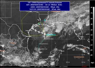 """Tormenta tropical Beta en el Golfo de México de Categoría """"lenta"""""""