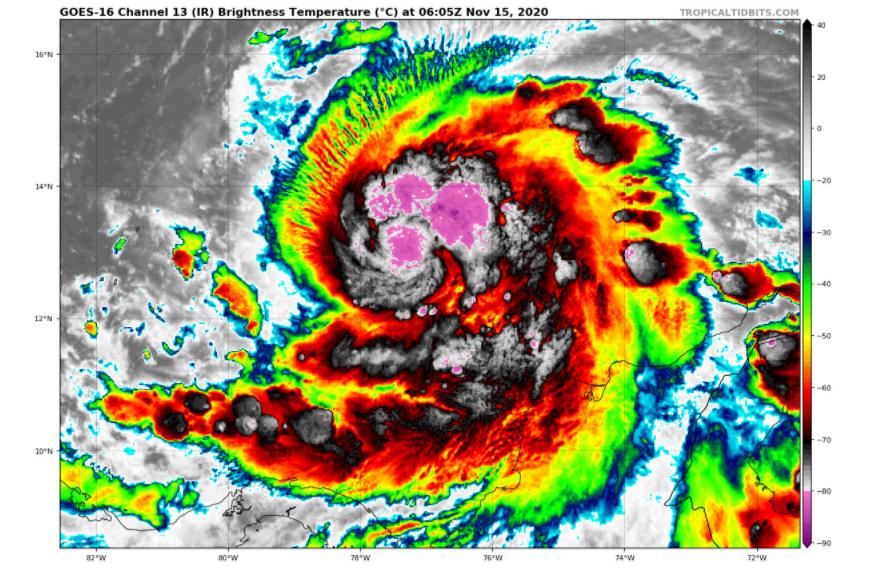 Tormenta tropical Iota: hacia gran huracán y amenaza a América Central