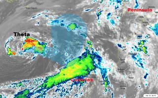 Tormenta tropical Theta: se debilita a medida que se acerca a Canarias