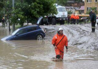 Unwetter: Heftige Überschwemmungen in Russland!