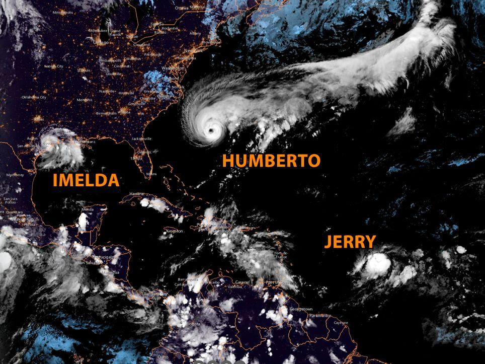Humberto, Imelda y Jerry