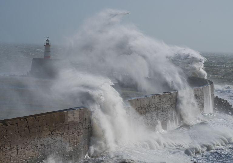 Stormy coastline.