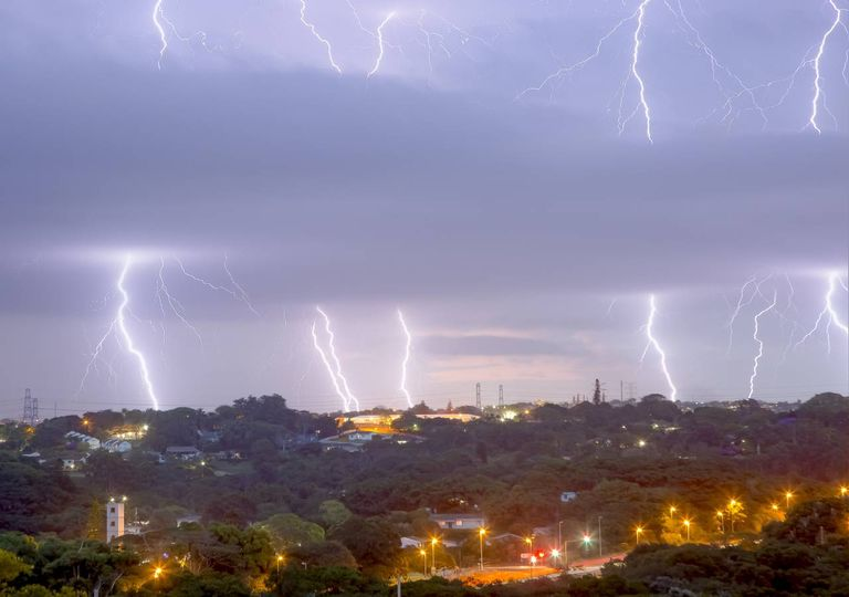 Tempestade em KwaZulu-Natal África do Sul