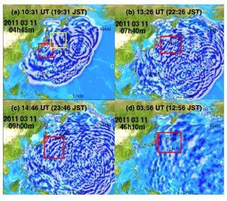 Los científicos estudian los tsunamis reflejados y tiempo espacial