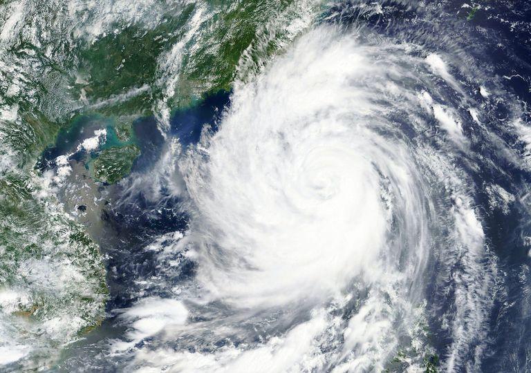 Philippines typhoon satellite image.