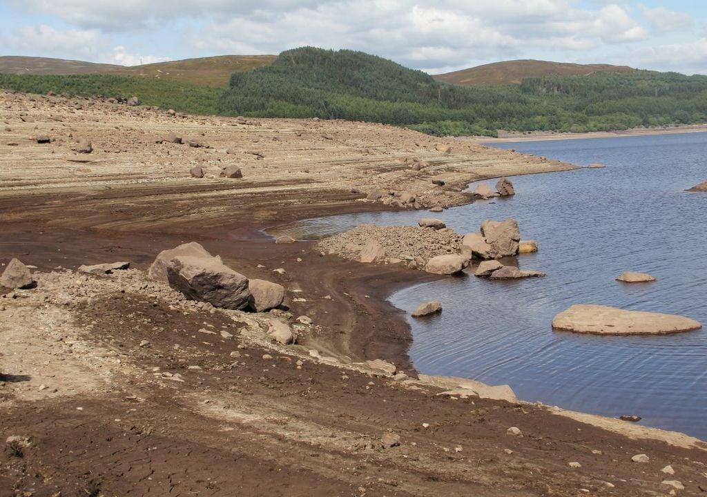 Welsh reservoir during a drought