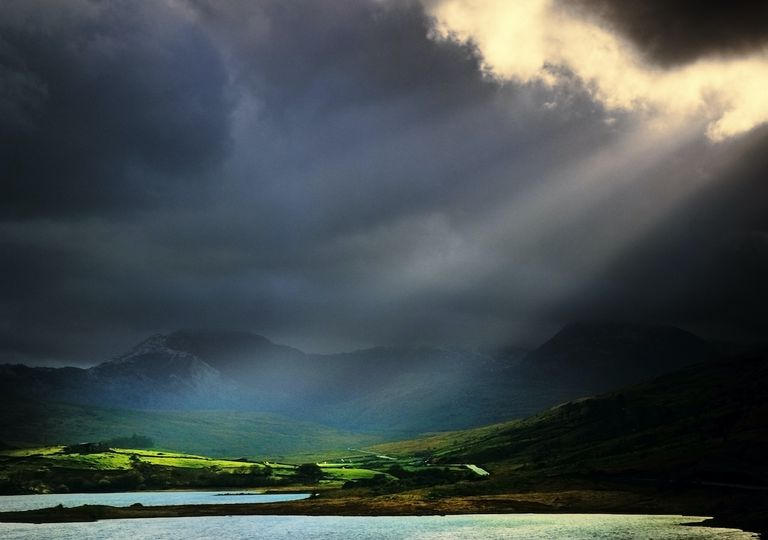 Snowdonia during Storm Alex.