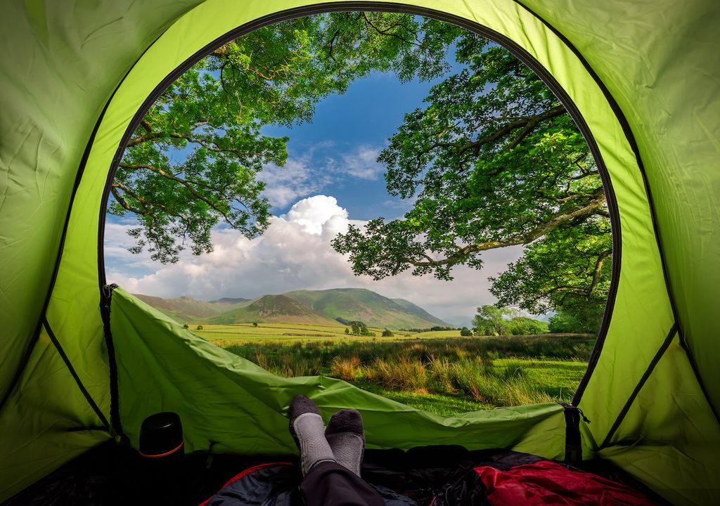 Camping in England during lockdown.