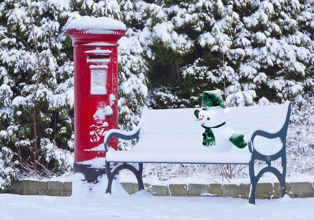 UK snow snowman.