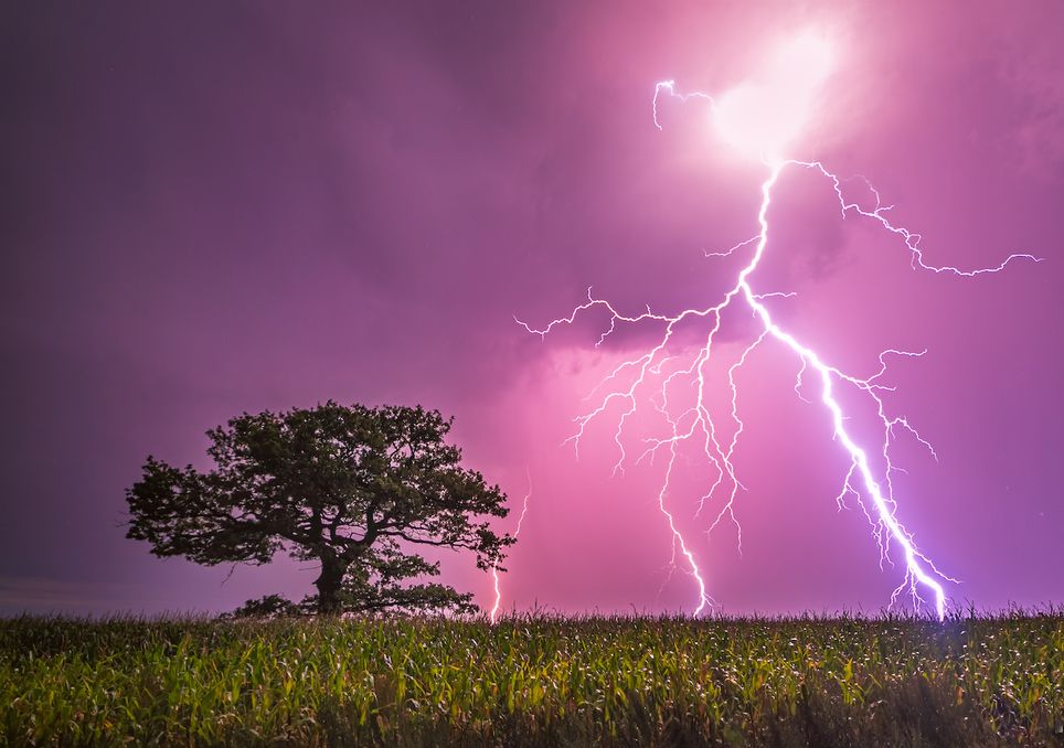 Thunderstorm in the UK.