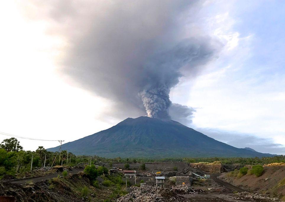 Agung Vulkanausbruch auf Bali