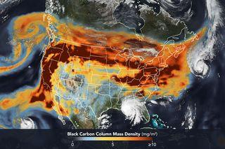 Un encuentro entre los humos de incendios y las tormentas tropicales