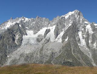 Un glaciar inestable dentro del Mont Blanc