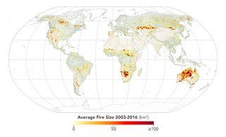 Un nuevo atlas mundial de incendios