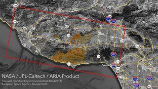 Un radar monitorea los incendios forestales en California desde el espacio
