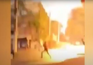 Rayo casi impacta peatones en el estado de São Paulo