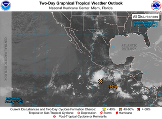Un seno de bajas presiones tropical se forma en el Pacífico oriental